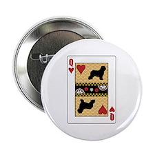 Queen Schapendoes Button