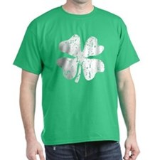 Distressed Grunge Shamrock | Green St T-Shirt