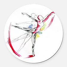 Anatomy of Ballet Round Car Magnet