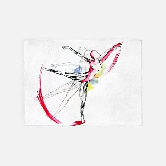 Anatomy of Ballet 5'x7'Area Rug