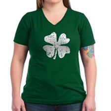 Distressed Grunge shamrock T-Shirt