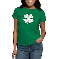 Distressed Grunge Shamrock Women'S Dark T-Shirt