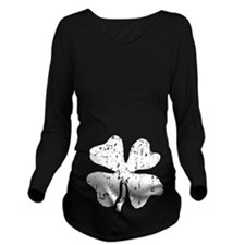 Distressed Grunge Long Sleeve Maternity T-Shirt