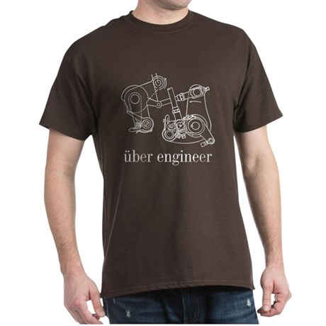Uber Engineer White Dark T-Shirt
