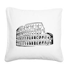 Colosseum Square Canvas Pillow