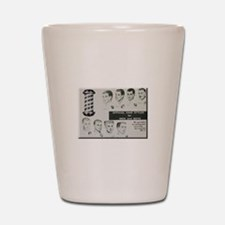Official Hair Styles of the 50s Shot Glass