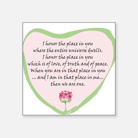 """Cute Pink truth Square Sticker 3"""" x 3"""""""