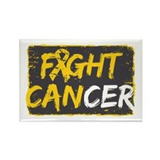 Fight Childhood Cancer Rectangle Magnet