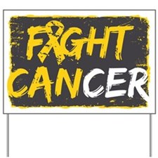 Fight Childhood Cancer Yard Sign