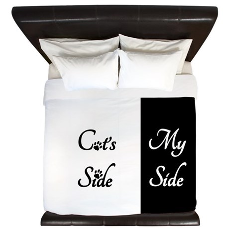 Cats Side My Side King Duvet By Beautifulbed