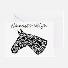 Horse Namaste Neigh Greeting Card