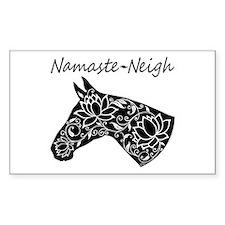 Horse Namaste Neigh Decal
