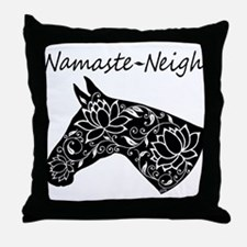 Horse Namaste Neigh Throw Pillow