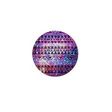 Aztec Tribal Design Mini Button