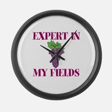 Expert in My Fields Large Wall Clock