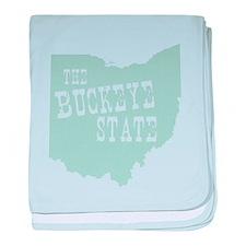 Ohio baby blanket