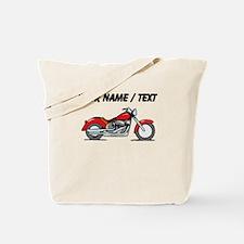 Custom Red Motorcycle Tote Bag