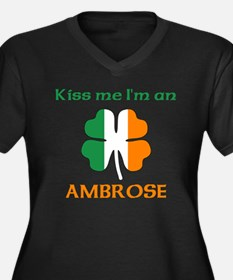 Ambrose Family Women's Plus Size V-Neck Dark T-Shi