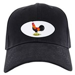 Brown Leghorn Rooster Black Cap