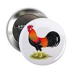 Brown Leghorn Rooster Button