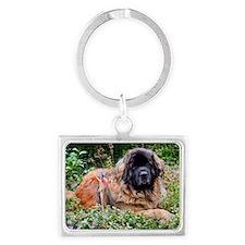 Leonberger Dog Landscape Keychain