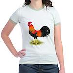 Brown Leghorn Rooster Jr. Ringer T-Shirt