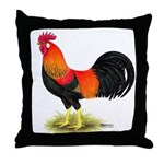 Brown Leghorn Rooster Throw Pillow