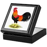 Brown Leghorn Rooster Keepsake Box