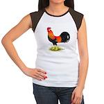 Brown Leghorn Rooster Women's Cap Sleeve T-Shirt