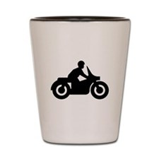 Motorcyclist Silhouette Shot Glass