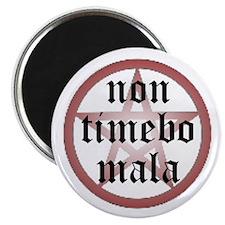 "Non Timebo Mala 2.25"" Magnet (100 pack)"