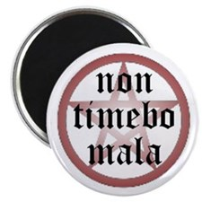 "Non Timebo Mala 2.25"" Magnet (10 pack)"