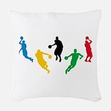 Basketball Players Woven Throw Pillow