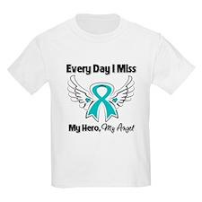Ovarian Cancer Miss My Hero T-Shirt