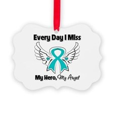 Ovarian Cancer Miss My Hero Ornament