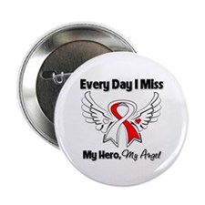 """Oral Cancer Miss My Hero 2.25"""" Button"""