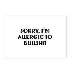 Sorry, I'm Allergic To Bullshit Postcards (Package