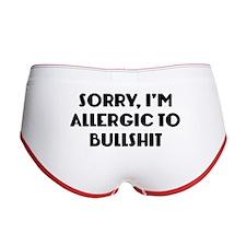 Sorry, I'm Allergic To Bullshit Women's Boy Brief