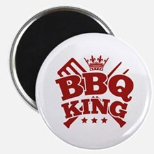 "BBQ KING 2.25"" Magnet (100 pack)"
