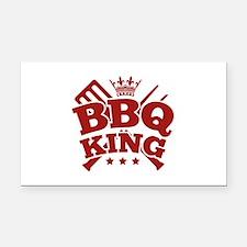 BBQ KING Rectangle Car Magnet