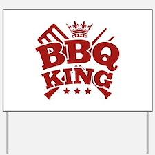 BBQ KING Yard Sign