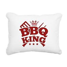 BBQ KING Rectangular Canvas Pillow