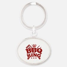 BBQ KING Oval Keychain