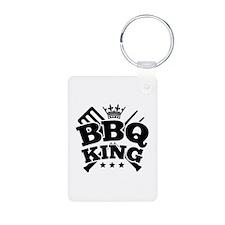 BBQ KING Aluminum Photo Keychain