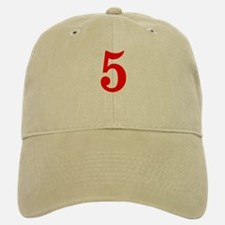 RED #5 Baseball Baseball Cap