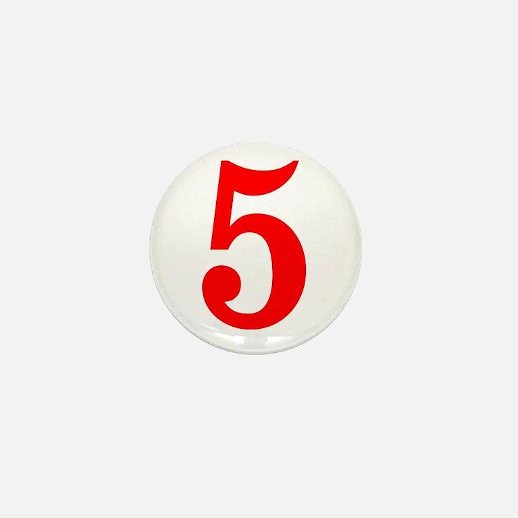 RED #5 Mini Button