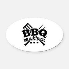 BBQ MASTER Oval Car Magnet