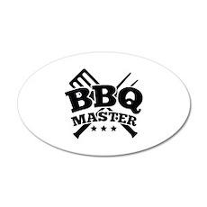 BBQ MASTER 22x14 Oval Wall Peel