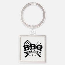 BBQ MASTER Square Keychain