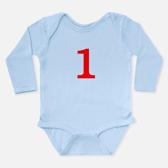 RED #1 Long Sleeve Infant Bodysuit